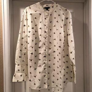Victoria Beckham for Target bee button down shirt